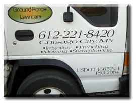Ground Force Lawncare Commercial  and Residential Lawcare Specialists for the Twin Cities, MN metropolitan area.  Services include total lawn care, snow removal, and irrigation.
